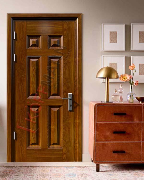 Tìm hiểu về cửa phòng ngủ bằng thép vân gỗ trên thị trường