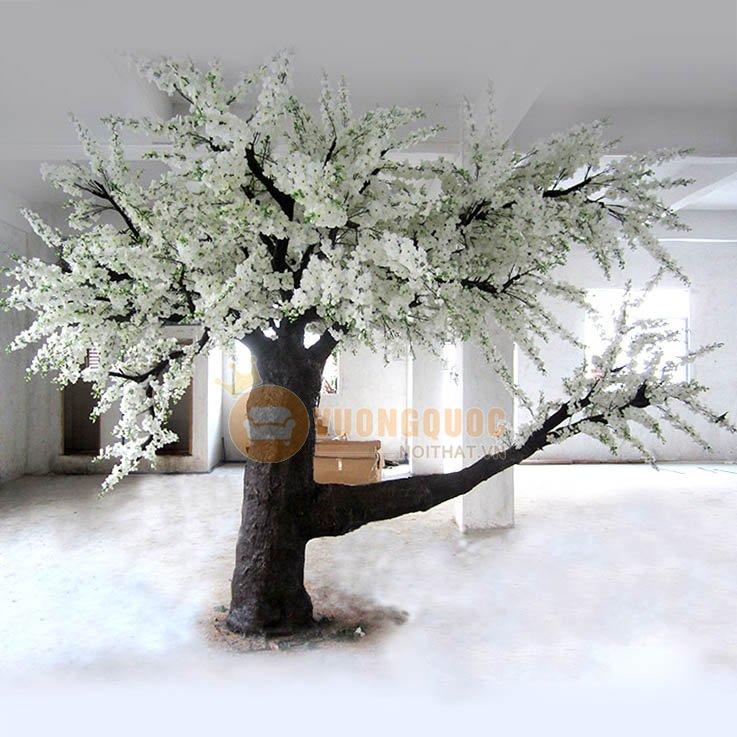 Cây hoa anh đào giả trang trí màu trắng DJ126