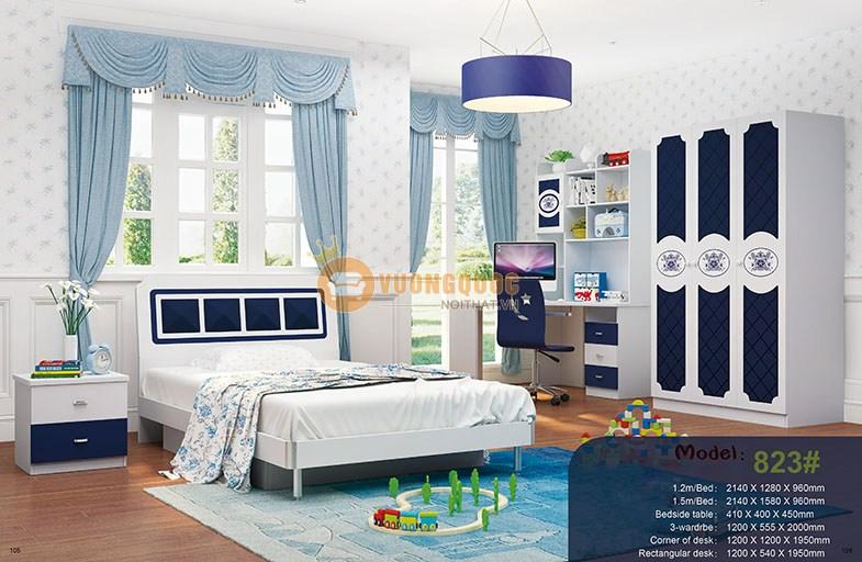 Nội thất phòng ngủ bé trai nhập khẩu cao cấp HHM823