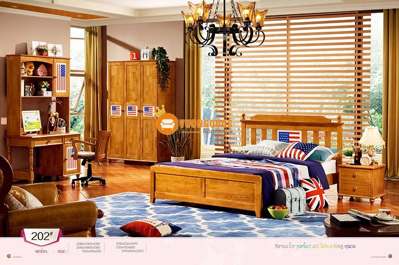 Phòng ngủ họa tiết cờ Mỹ LSL202