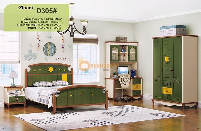Phòng ngủ trẻ em nhập khẩu HHMD305