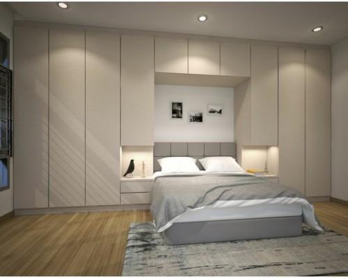 Tủ quần áo hiện đại kết hợp với giường ngủ