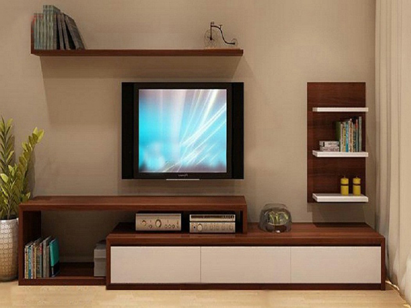 Kệ tivi phòng khách thiết kế hiện đại