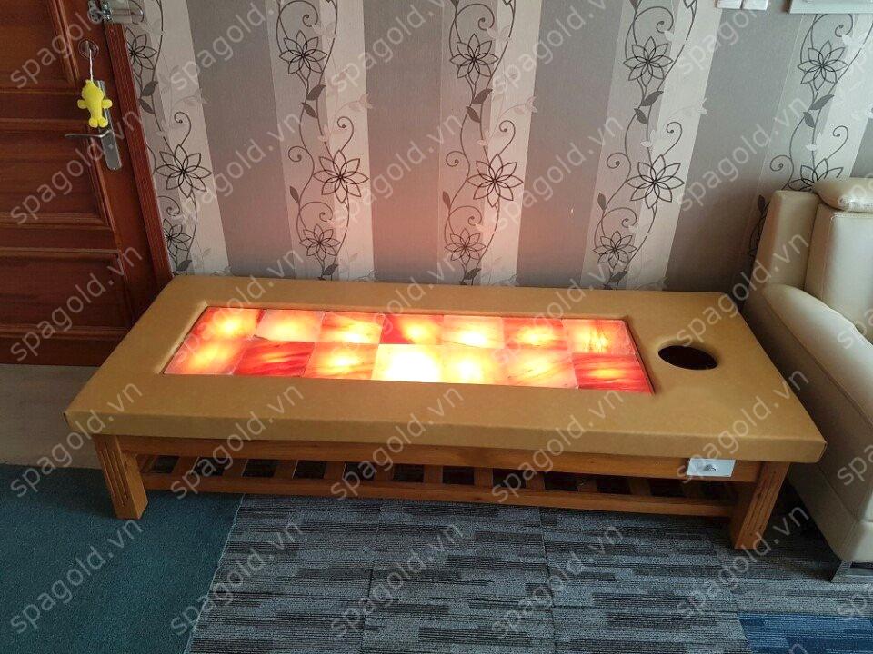 tác dụng của giường massage đá muối