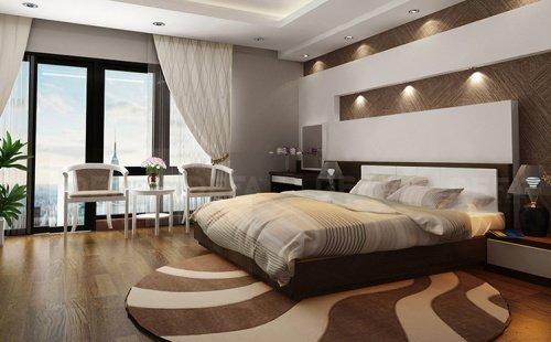 Giường ngủ gỗ không chân cao cấp