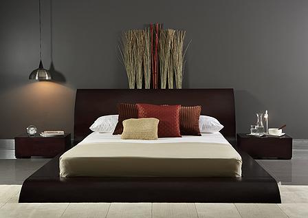 Giường ngủ không chân giá rẻ gỗ MDF