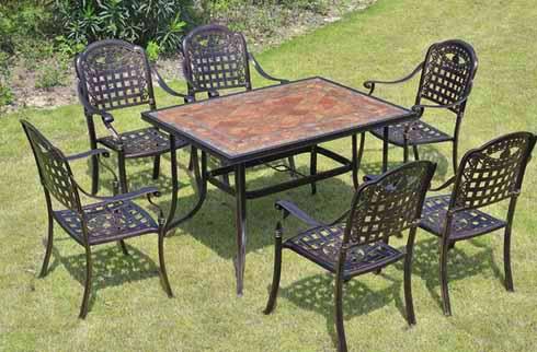 Bộ bàn ghế nhôm đúc phong cách Pháp
